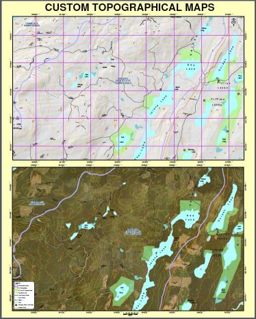Topographical Map of the Dee Lakes Chain Area