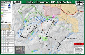 OHV Trail Map of Duffy-Greenstone