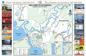 Sicamous Visitor Map - Houseboat Capital of Canada