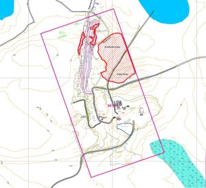 Site Plan of Proposed Work on a Mineral Claim