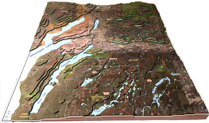 3D Model of the Great Vernon Watershed area